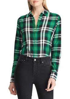 Lauren Ralph Lauren Plaid Cotton Twill Button-Down Shirt