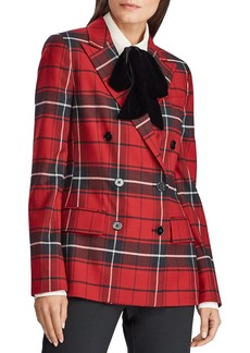 Lauren Ralph Lauren Plaid Double-Breasted Blazer