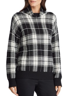 Lauren Ralph Lauren Plaid Funnel-Neck Sweater