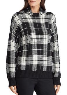 Lauren Ralph Lauren Plaid Funnel-Neck Sweater