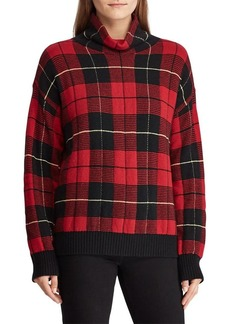 Lauren Ralph Lauren Plaid Funnelneck Sweater