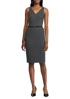 Lauren Ralph Lauren Plaid Jacquard Sheath Dress