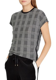 Lauren Ralph Lauren Plaid Jersey T-Shirt