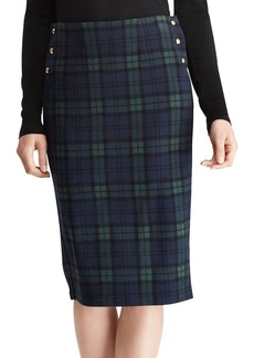 Lauren Ralph Lauren Plaid Knit Jacquard Skirt