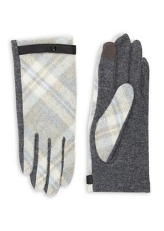 Lauren Ralph Lauren Plaid Wool-Blend Gloves