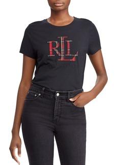 Lauren Ralph Lauren Plaid Logo Tee