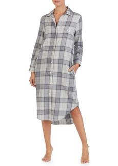 Lauren Ralph Lauren Plaid Long Sleepshirt