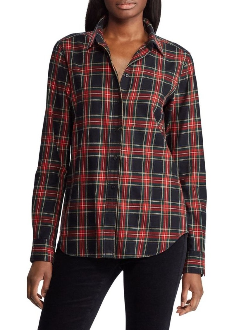 Lauren Ralph Lauren Plaid Long-Sleeve Shirt