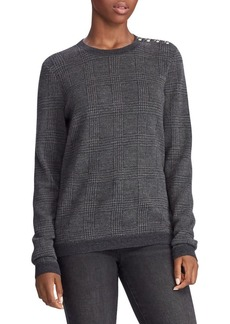 Lauren Ralph Lauren Plaid Merino Wool Sweater