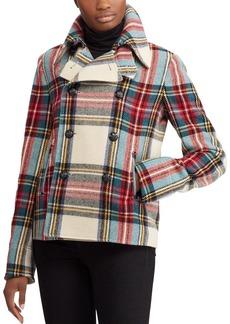 Lauren Ralph Lauren Plaid Pea Coat