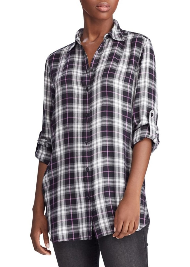Lauren Ralph Lauren Plaid-Print Shirt