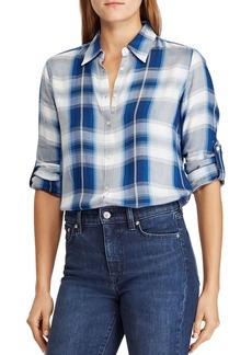 Lauren Ralph Lauren Plaid Roll Sleeve Shirt