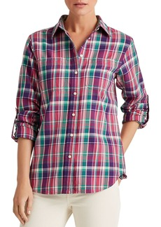Lauren Ralph Lauren Plaid Roll-Tab Shirt