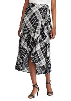 Lauren Ralph Lauren Plaid Ruffled Asymmetrical Skirt