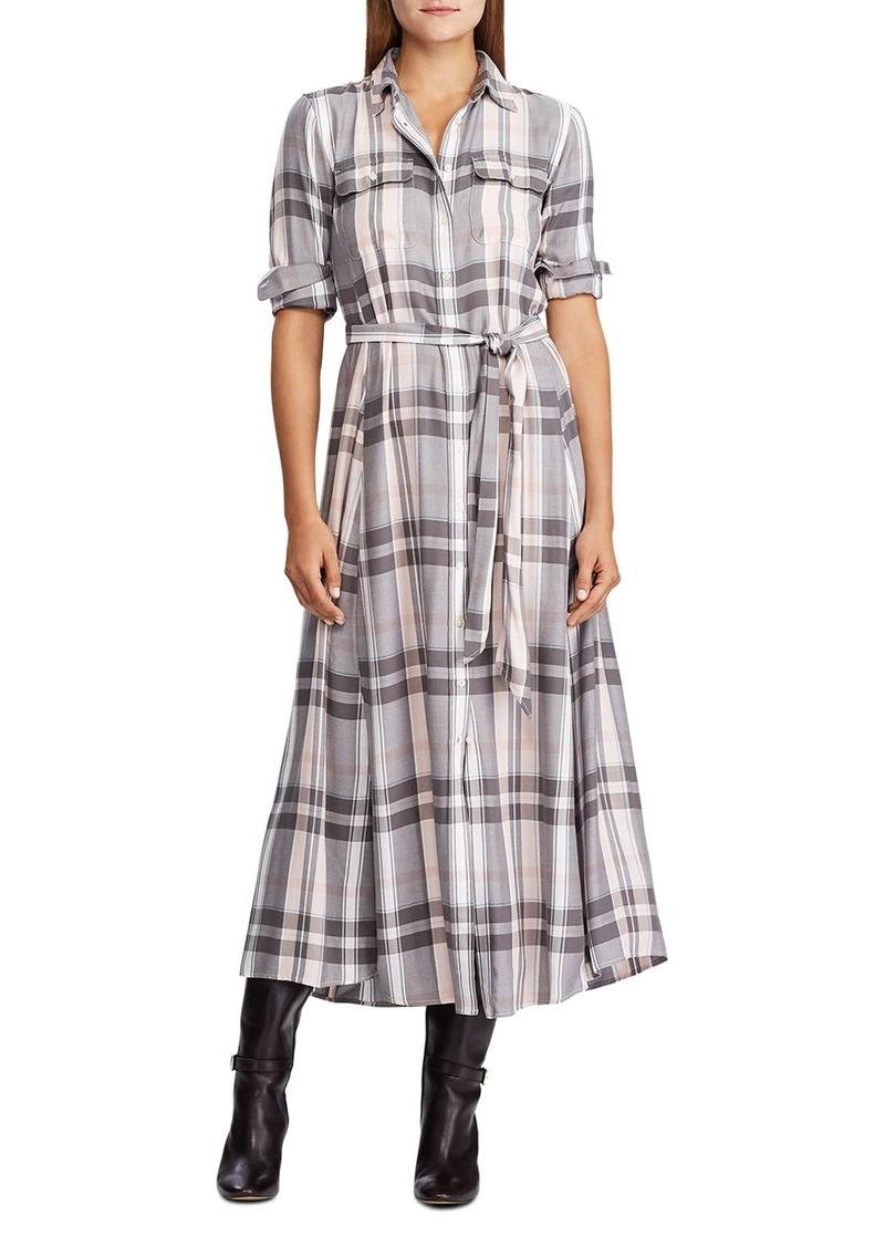 Lauren Ralph Lauren Plaid Shirt Dress