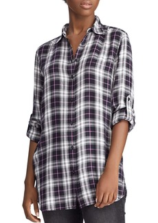 Lauren Ralph Lauren Plaid Tunic Shirt