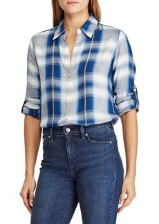 Lauren Ralph Lauren Plaid Twill Button-Down Shirt