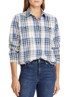 Lauren Ralph Lauren Plaid Utility Tunic