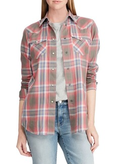 Lauren Ralph Lauren Plaid Western Shirt