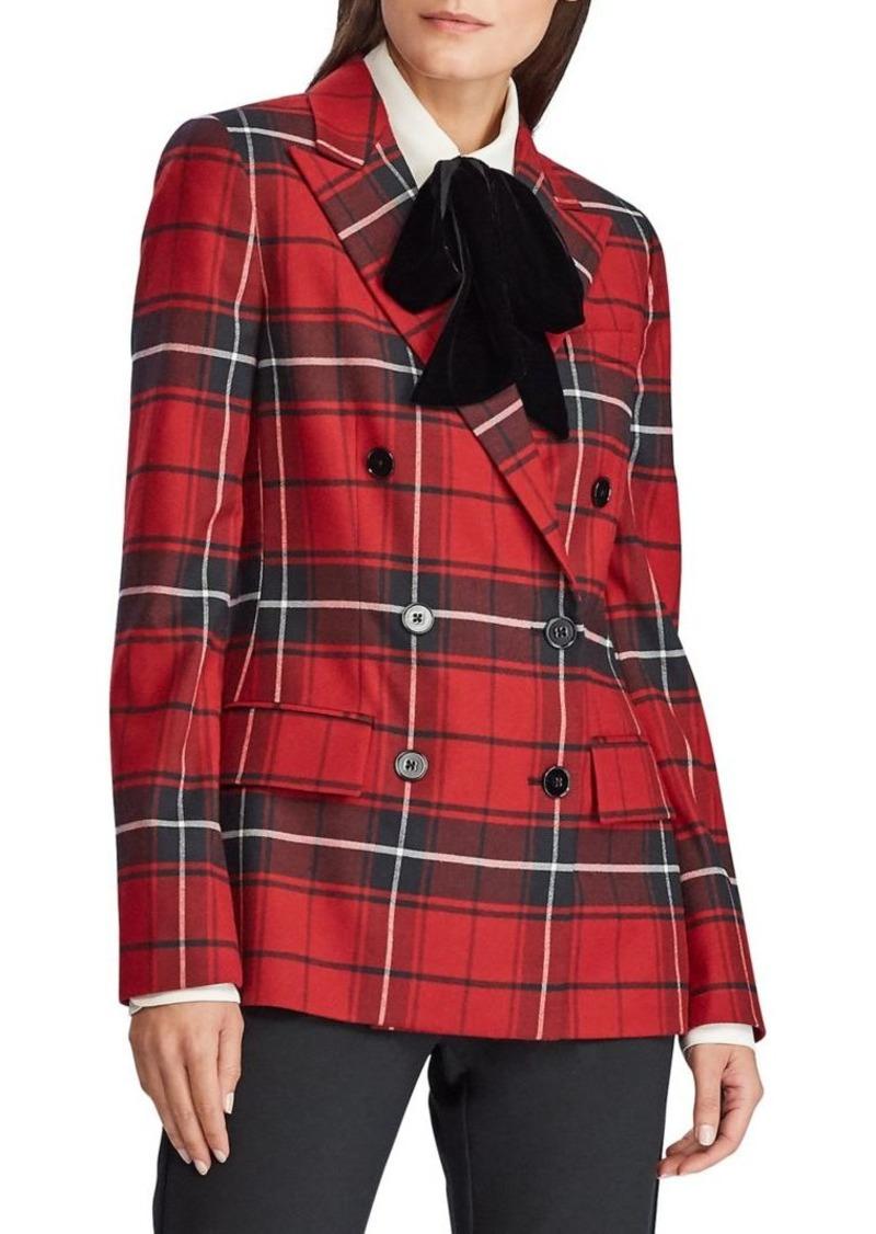 Lauren Ralph Lauren Plaid Wool-Blend Blazer