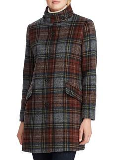 Lauren Ralph Lauren Plaid Wool-Blend Coat