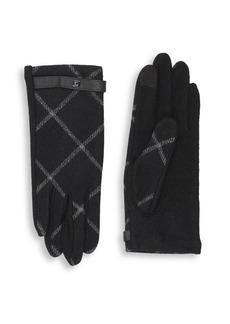 Lauren Ralph Lauren Plaid Wool-Blend Gloves