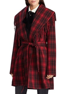 Lauren Ralph Lauren Plaid Wrap Coat