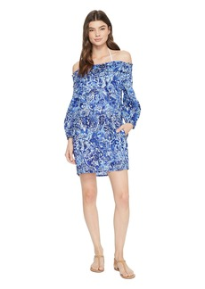 Ralph Lauren Playa Floral Smocked Off the Shoulder Tunic Cover-Up
