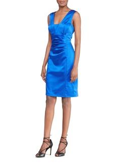 Lauren Ralph Lauren Pleat Detail Dress