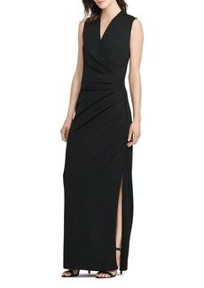 Lauren Ralph Lauren Pleated-Bodice Gown
