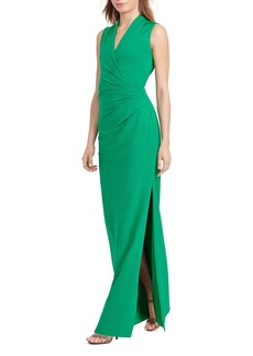 Lauren Ralph Lauren Pleated-Bodice Gown