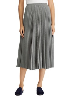 Lauren Ralph Lauren Pleated Geo Print Midi Skirt
