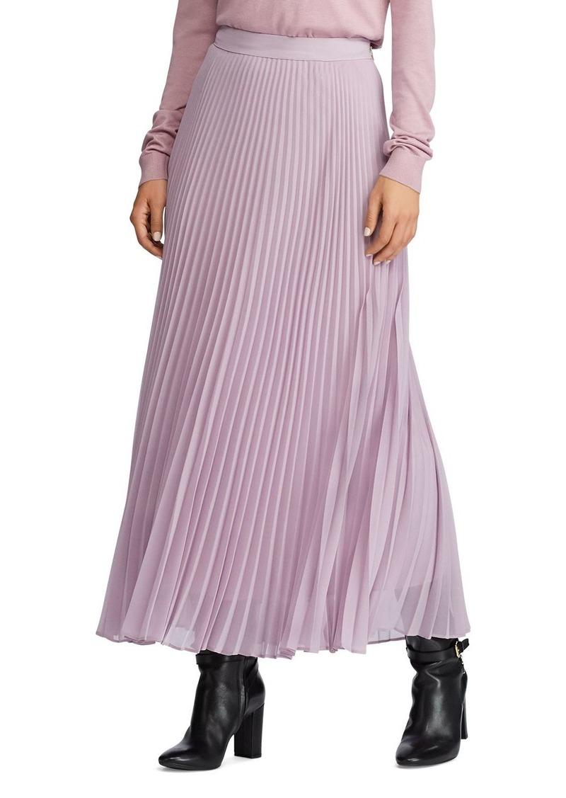 Lauren Ralph Lauren Pleated Maxi Skirt