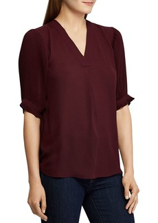 Lauren Ralph Lauren Pleated-Sleeve Top