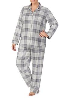 Lauren Ralph Lauren Plus Brushed-Cotton Plaid Pajama Set