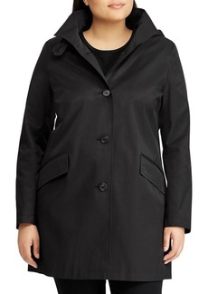 Lauren Ralph Lauren Plus Button-Front Walker Coat