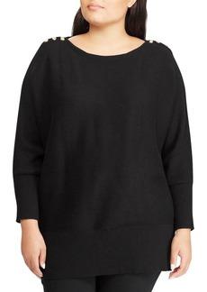Lauren Ralph Lauren Plus Classic Buttoned Sweater