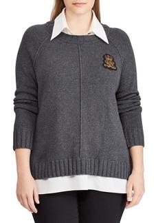 Lauren Ralph Lauren Plus Classic Textured Sweater
