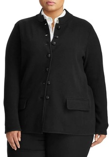 Lauren Ralph Lauren Plus Cotton-Blend Officer's Jacket