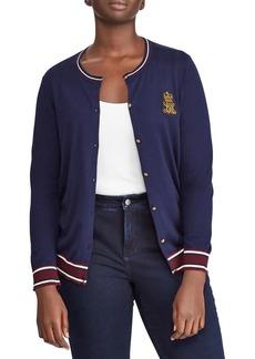 Lauren Ralph Lauren Plus Crewneck Button Front Cardigan