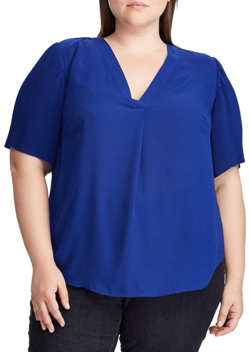 Lauren Ralph Lauren Plus Georgette Top