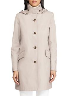 Lauren Ralph Lauren Hooded Cotton Blend Coat