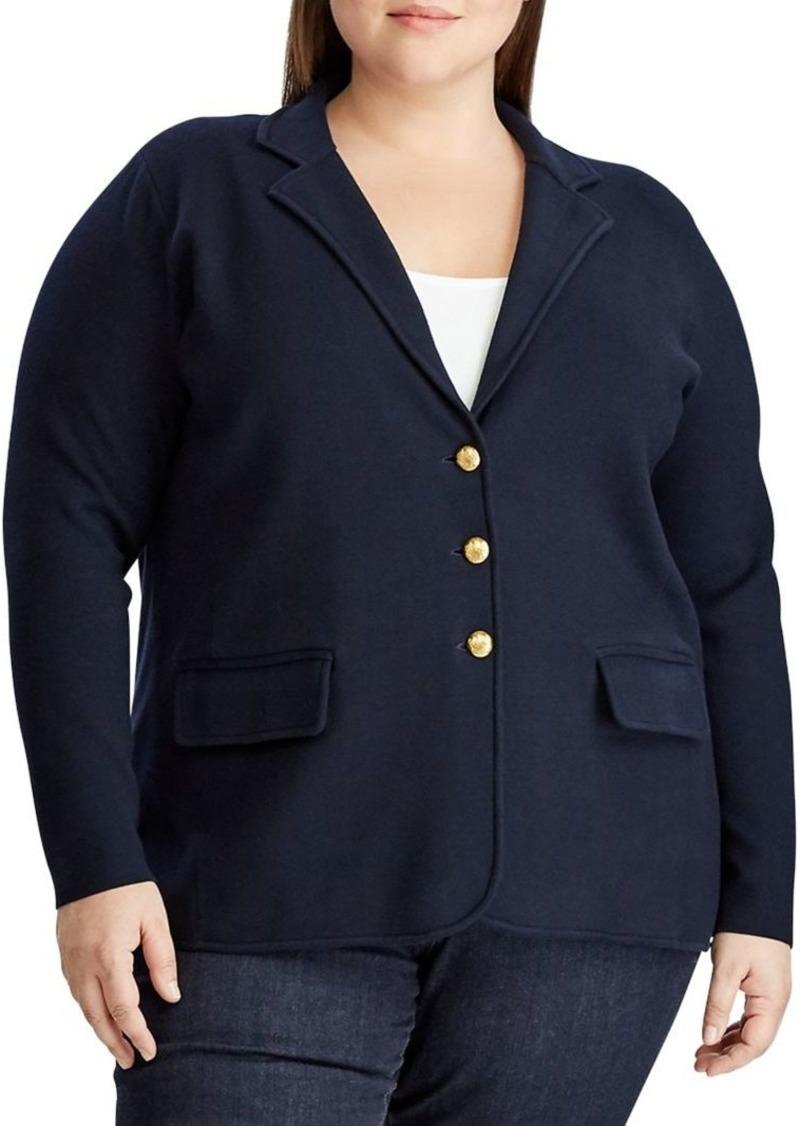 Lauren Ralph Lauren Plus Knit Sweater Blazer