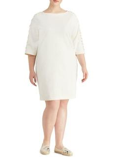 Lauren Ralph Lauren Plus Lace-Up Cotton Dress
