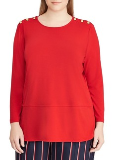 Lauren Ralph Lauren Plus Long-Sleeve Jersey Top