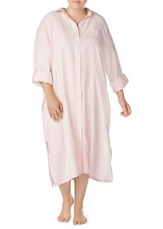 Lauren Ralph Lauren Plus Long-Sleeve Sleepshirt