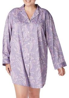 Lauren Ralph Lauren Plus Paisley Long-Sleeve Sleepshirt