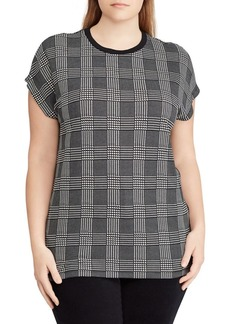 Lauren Ralph Lauren Plus Plaid Jersey Tee