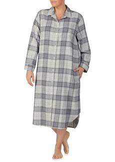 Lauren Ralph Lauren Plus Plaid Long Sleepshirt
