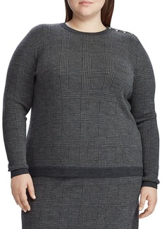 Lauren Ralph Lauren Plus Plaid Merino Wool Sweater
